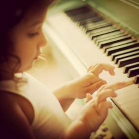 Darling Lil Pietra on the Piano