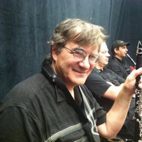 """Dr. M in the pit during """"Gypsy"""" at Phoenix Theater."""