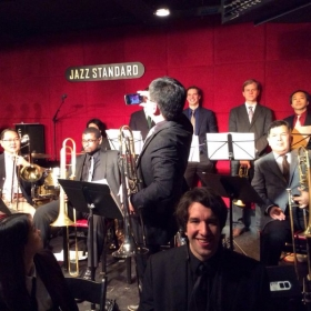 About to perform at the Jazz Standard