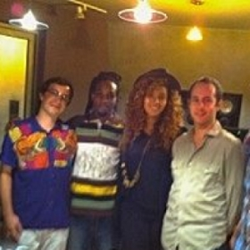 In the studio with Beyonce