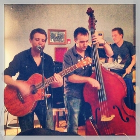 Playing bass with Don Ryan & the Blank Canvas Movement (I LOVE this band!)