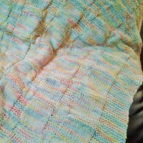 Baby Blanket (Knit) Knit & Purl Stitches