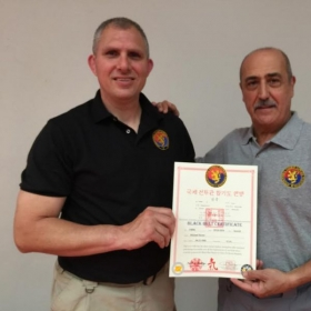 Sept 20, 2014 - Michael Promoted to 7th Degree Black Belt; Presented by GM John Pellegrini