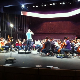 Rehearsal with Young Musicians Foundation for the video game concert in Los Angeles.