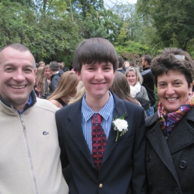 Celebrating 2014 Homecoming with our son.