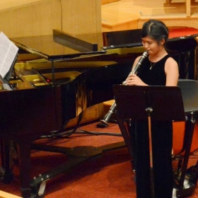 My student performs at the concert at United Methodist Church in Morristown, NJ