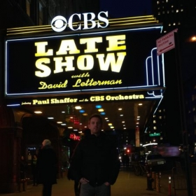 A quick picture outside the Ed Sullivan Theater after I performed on the Late Show.