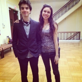 My Sister and I after my master's recital