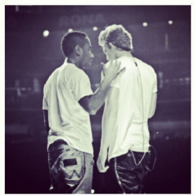 As i coach Cody Simpson before one of our shows in Canada...