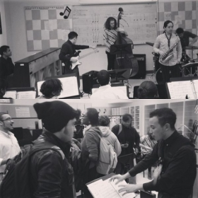 Shots from a masterclass I gave at a high school in Newark, NJ as part of the Monk Institute's International Jazz Day