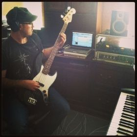 Recording on my Fender Jazz Bass.