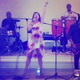 "At an impromptu performance of Lady Gaga's ""Born This Way"" with the resort band while on vacation in Mexico!"