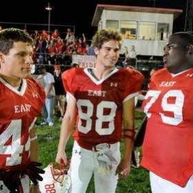 On the set of Friday Night Lights