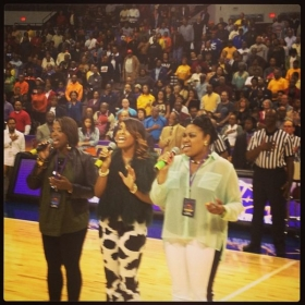 Singing the National Anthem for MEAC Tournament 2013 @ Norfolk Scope