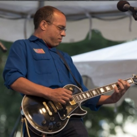 ..with his '02 Gibson Les Paul Custom at the Go Forth! Festival in Longview, WA