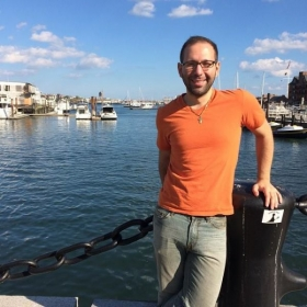 Boston Harbor, October 2014. After speaking at a conference on Greek dialects of Turkey