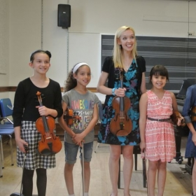 After our studio recital with a few of my students