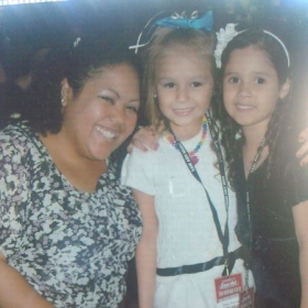 Emely(Right) Zoey (Middle) and I at last years fall recital 2013.