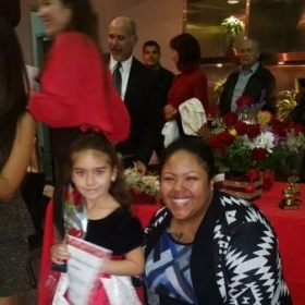 Lauren and I at her winter recital 2014! So proud she's only been taking lessons for about 3 months.