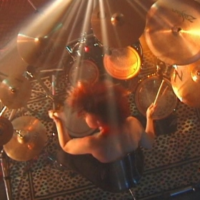 Drum solo overhead shot