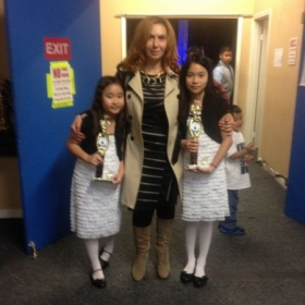 With my students, Nicole and Tami, at our annual Gala Concert.