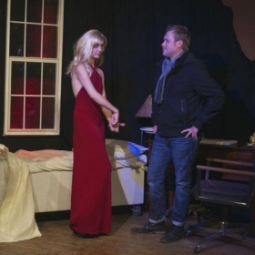 """On stage during """"Red Light Winter"""" 2014"""