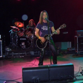 """With my old Heavy Metal Band """"Eradicate"""" at The Roxy in 2005"""