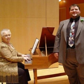 Before a recital with Karen Kuenzi.