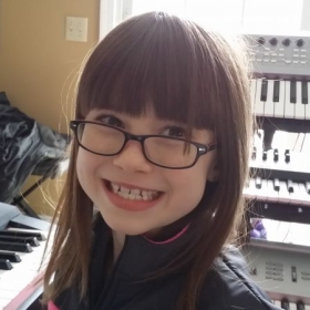 One of the cutest and best piano students!