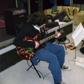 Matthew Imbo practicing at my Middletown location. he is being prepared for a college audition for music compostion.