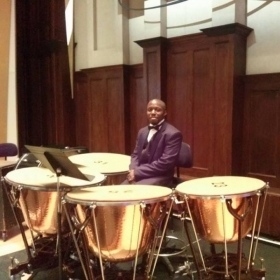 Playing timpani with the Detroit Symphony Orchestra on New Years Eve