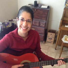 This is Milagros a 3-week student who is learning her first flamenco piece...and doing GREAT! I am so proud!