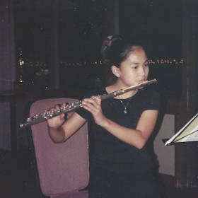 Me, just starting out on the flute in 1998.