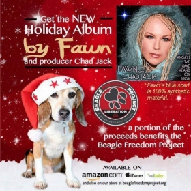 My first Holiday album, benefitting Beagle Freedom Project.