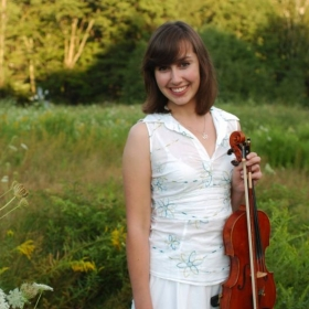 Miriam-Rose and her violin