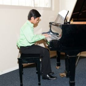 Student performing at recital
