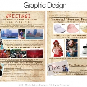 Graphic Design via  Adobe Photoshop and Illustrator, on the computer- computer rendering