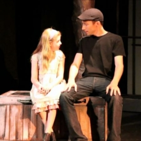 One of our Skype students Emma and I, in K&A Theatrical's production of Broadway Baby and Beyond at the Attic Theater in Los Angeles.