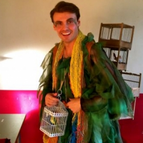 """As the bird man """"Papageno"""" from Mozart's masterpiece """"The Magic Flute"""""""