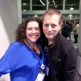 World renowned drummer Dave Weckl and Francesca at NAMM