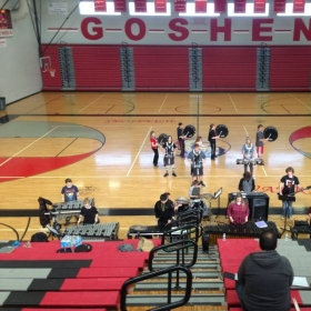 Directing the Goshen Indoor Percussion Ensemble.