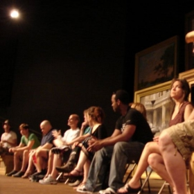 Talk back at the Illinois Shakespeare Festival for THE RIVALS