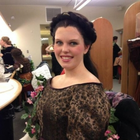 "Backstage as Jullette in ""Romeo et Juliette"""