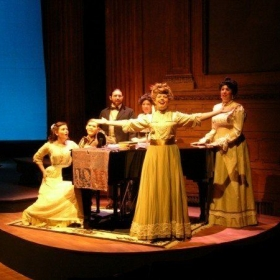 "Fredrika in ""A Little Night Music"" (far left at piano)"