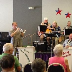 Swing Memories Big Band at a venue in Phoenix--18 piece band--I play guitar, including solos, and substitute for the pianist.