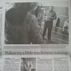 Acting work w/ Pro-Crisis & St. Paul Police [crisis intervention training]