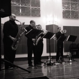 Latin band Contrabanda at Chicago's Merit School of Music.
