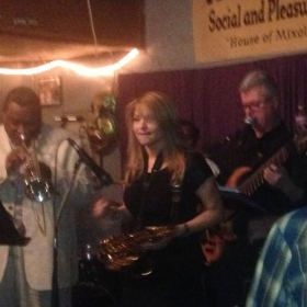 """I played recently with James """"Boogaloo"""" Bolden, Tumpet player for 29 years and also Band Leader with BB King."""