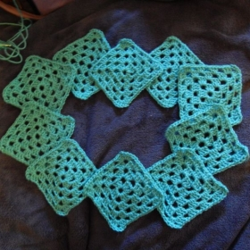 Standard Granny Square (Crochet) Chain, Double Stitch & Joining