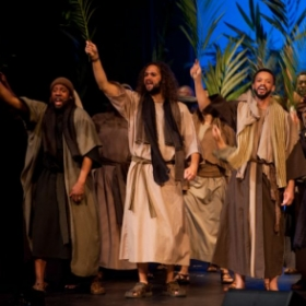 Playing James of Alpheus in the 2015 production of The Passion of the King